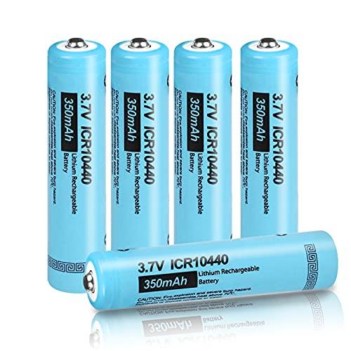 AAA ICR 10440 Li-Ion Wiederaufladbare Batterie 3.7V 350mAh(5 Stck)