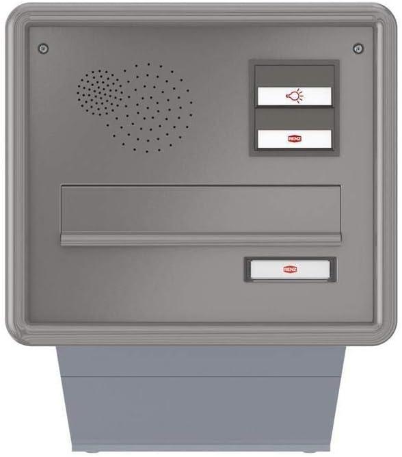 Renz Mauerdurchwurf-Briefkasten mit Sprechfeld und Alu-Profilrahmen - Briefkasten Türsprechanlage