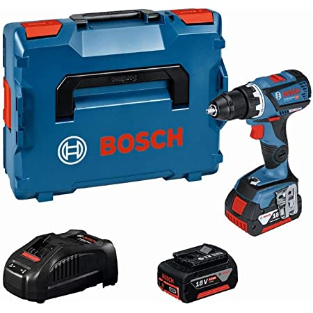 Bosch Professional 18V System Akku Bohrschrauber GSR 18V-60 C (max. Drehmoment: 60 Nm, inkl. 2x5.0Ah Akku + Ladegerät, in L-BOXX)