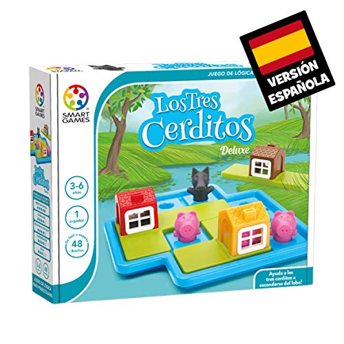 Los 3 cerditos (Smart games) – Juego educativo para niños, rompecabezas para niños, puzles infantiles, juego de mesa para niño, puzzle educativo, smartgames