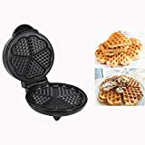 DAWN&ROSE Macchina per la colazione, macchina per waffle triangolare, in acciaio inossidabile, riscaldatore per waffle casa, macchina per muffin, a forma di prugna