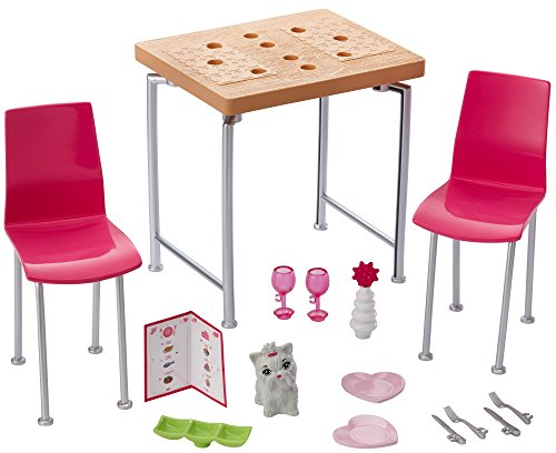 Barbie Mattel DVX45 - Inneneinrichtung: Esszimmer, Ankleidepuppen-Zubehör