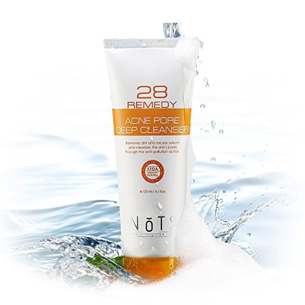 思いやり雇った悲観的NOTS 28 Remedyアクネポアディープフェイシャルクレンザー120ml (NOTS 28 Remedy Acne Pore Deep Facial Cleanser 120ml) [並行輸入品]