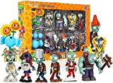 Plants Vs Zombies Toys 10 Piece, PVZ Figures, Non-Toxic Dolls, Environmentally Friendly PVC, Great Gift for Children and Fans (No Background)