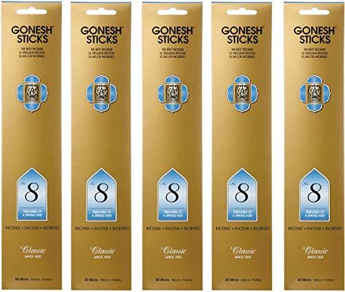 【5個セット】 GONESH(ガーネッシュ) インセンス スティック クラシックシリーズ No.8 (フルーツ系の香り) 20本入 (お香)