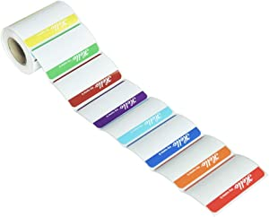 L LIKED 200 Stickers - Colors Plain Name tag Labels with Perforated Line for School Office Home (Hello - 200 Labels)