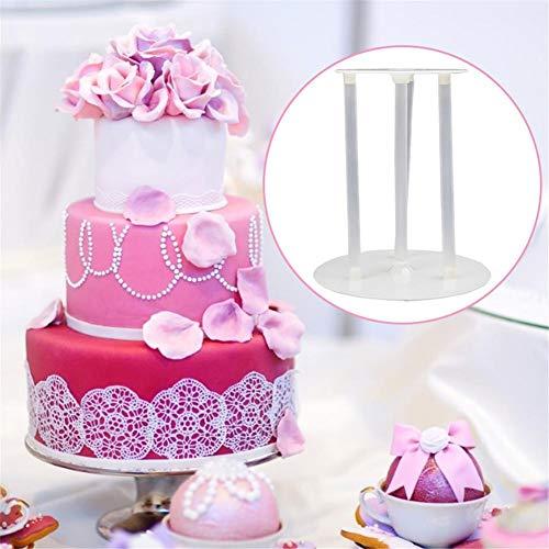 rosemaryrose Supporto per Cupcake, Supporto per Palancole Multistrato Supporto per Torta Supporti per Torta Fai da Te Accessori per La Cottura (50 Cannucce)