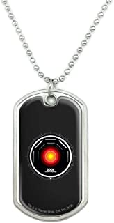 GRAPHICS & MORE 2001: A Space Odyssey Hal Military Dog Tag Pendant Necklace with Chain