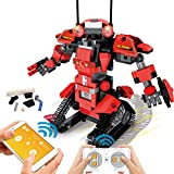 POKONBOY Building Blocks Robot Kits for Kids to Build, STEM Toys Engineering DIY Remote Control Robot Kits STEM Robotics Building Kits for 8-14 Years Old Boys and Girls(Red)