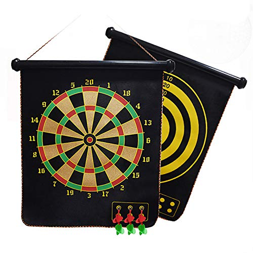 YTBLF Double-Sided Magnetic Dart Board, Can Be Easily Hung Anywhere, with Six 6 Safe Magnetic Darts, The Best Children's Toy Gift Indoor Outdoor Games
