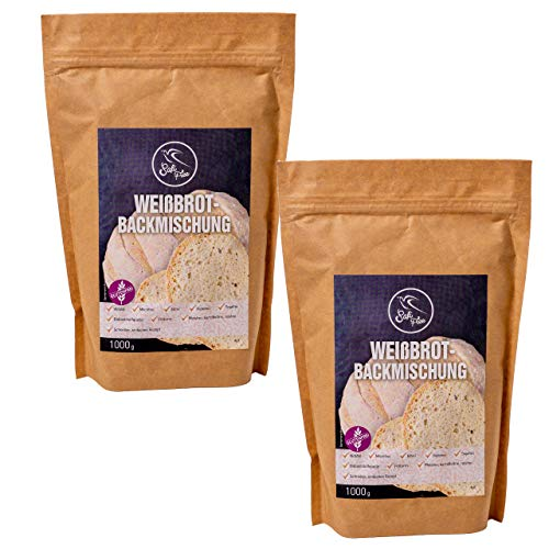 Szafi Free Doppelpack Backmischung für leckeres Weißbrot, 100% glutenfrei und vegan, 2x 1000g
