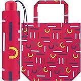 Esprit Paraguas de bolsillo Super Mini con bolsa para la compra, rosa (Multicolor) - .