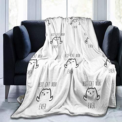 TLZYBN Best Cat Dad Ever Rude Cat Ultra-Soft Cozy Throw Lightweight Flannel Blankets All Season Light Weight Living Room/Bedroom Warm Blanket