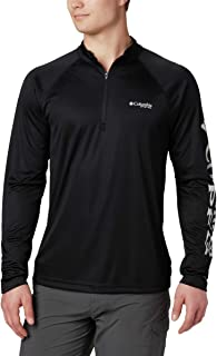 Columbia Men's Terminal Tackle 1/4 Zip, Black/Cool Grey Logo, X-Large