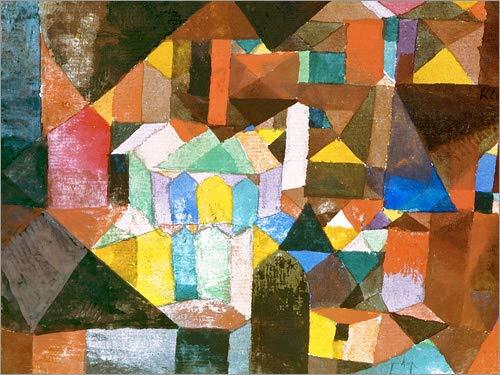 Posterlounge Leinwandbild 40 x 30 cm: Heitere Architektur von Paul Klee/ARTOTHEK - fertiges...