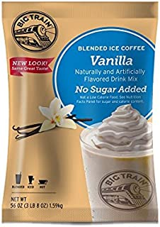 Big Train Blended Ice Coffee without Sugar, Vanilla, 3.5 Pound