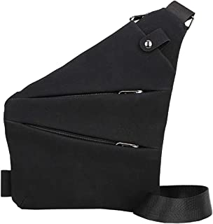 Hot Selling!!!♛HYIRI Vintage Outdoor Pure Color Chest Bag,Zipper Men Leather Messenger Bag Waist Bag