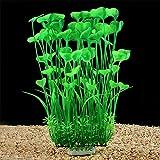 QUMY Large Aquarium Plants Artificial Plastic Fish Tank Plants Decoration Ornament Safe for All Fish...