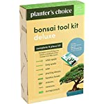"""Premium Bonsai Tool Kit + Bonsai 101 Book - Set Includes: Wooden Rake, Long & Wide Spades, Scissors, Tweezers, Bamboo… 20 Everything you need to care for your bonsai, in one stylish case: pruning shear and scissors to cut twigs, smaller branches, leaves or roots easily. Pair of tweezers to remove dead leaves, insects, weeds and other fine debris. Bamboo brush to enhance your bonsai tree, bamboo rake to plane or rake the surface of the soil when repotting, and 2 spades (long & wide). Includes best selling book """"bonsai: 101 essential tips"""" by bonsai expert Harry Tomlinson (DK Publishing), with 72 full color illustrated pages. Everything you need to know about bonsai care, maintenance, design, and arrangement. With clear explanations of bonsai and what it is, these 101 easy-to-grasp tips have everything you need to get the results you want. Premium quality: Everything is made with only the finest steel and bamboo, as you would expect from the Planters' Choice brand. And it comes neatly packaged in a stylish storage case so that it makes a great gift for your friend or family."""