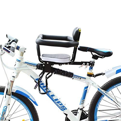 Massage-AED Asiento Infantil De Seguridad para Bicicleta, Respaldo De Apoyo De Seguridad Conveniente Silla Delantera De Bicicleta para Niños Seguridad Deportiva Estable MTB