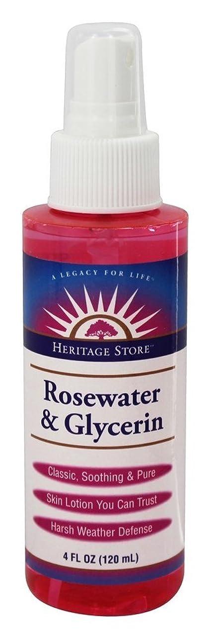 遅い批判Heritage - ローズウォーターとグリセリン アトマイザー - 4ポンド [並行輸入品]
