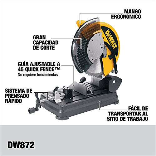 DEWALT Metal Cutting Saw, 14-Inch (DW872)