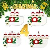 Airabc Decorazioni per Albero di Natale Sopravvissuto Famiglia 2020 Ornamenti Natalizi Decorazioni per Le Vacanze di Natale, Decorazione per la casa, Personalizzate Regalo di Natale,Family-2/3/4/5