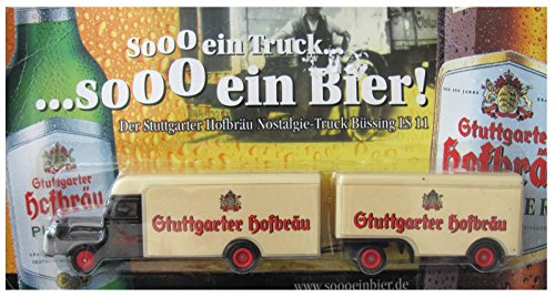 Stuttgarter Hofbräu Nr. - ..... sooo EIN Bier - Man Büssing LS11 - Hängerzug Oldie