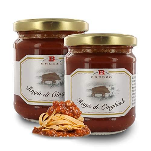 Brezzo Ragú de Carne de Jabalí | Selección de Salsas Italianas para Pasta | 180 Gramos