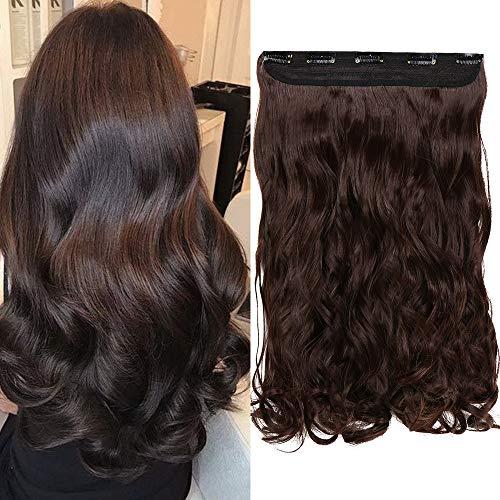 Une Pièce Extension A Clip Cheveux Synthétique Avec 5 Clips Monobande Extension A Clip Cheveux Ondulé One Piece Clip In Hair Extension Wavy - 24 Pouce