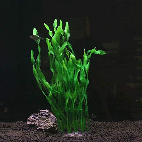 SPLAN Aquarium Landschaftsbau Gefälschte Wasser Gras Dekoration Zylindrische Aquarium Gras (Farbe : E)