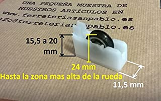 Amazon.es: rodamientos puertas correderas aluminio
