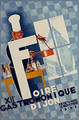 Feeling at home IMPRESION-sur-Papier-XIIe-Foire-Gastronomique-/-Digione-Gadoud-C.-Panneaux-Affiche-roulée-Fine-Art- pour-cadre-Poster-pour-décoration-murale-dimensions-109_X_72_cm