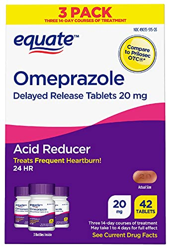 Equate Acid Reducer Omeprazole Delayed Release Tablets, 3 Pk , 20 mg,...