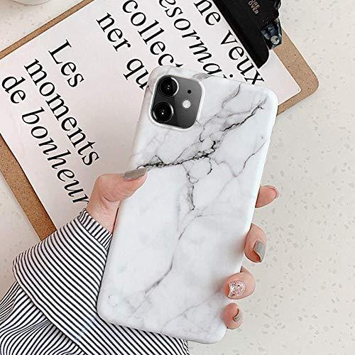 Uposao iPhone 11 Marbre Coque,iPhone 11 Coque Silicone Motif Marbre Série Housse Étui de Protection en Silicone Gel TPU Souple Antichoc Bumper pour iPhone 11,IMD #17