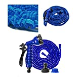 <span class='highlight'>dicn</span> <span class='highlight'>electronic</span> 100FT Expanding Watering Hose Pipe Lightweight 3 Times Expandable Easy Storage with Spray Nozzle for Gardening Washing Cars Cleaning Windows Floor Multifunction Blue