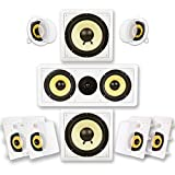 Acoustic Audio HD725 in-Wall/Ceiling Home Theater Surround 7.2 Speaker System