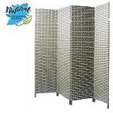Biombo Separador de ambientes, Green Natur de Bambú Natural, 4 Paneles, para Salón/Dormitorio 180 x 180 cm. - Hogar y más