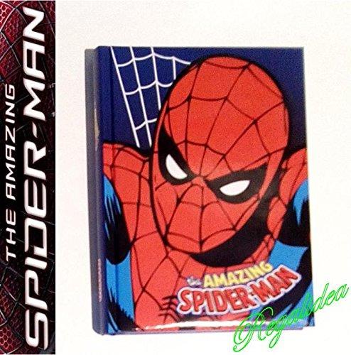 Agenda scolaire 18 x 14 cm Spiderman pour homme, motif Spiderman, collection 2020 2021 + stylo à paillettes offert.