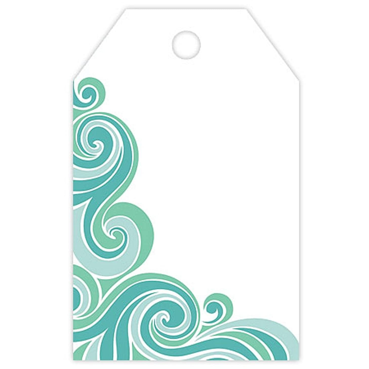 Waves Printed Gift Tags - 2 1/4 x 3 1/2in. (100)