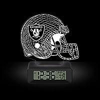 Game Time NFL Team Logo LED 3D Illusion Alarm Clock Las Vegas Raiders