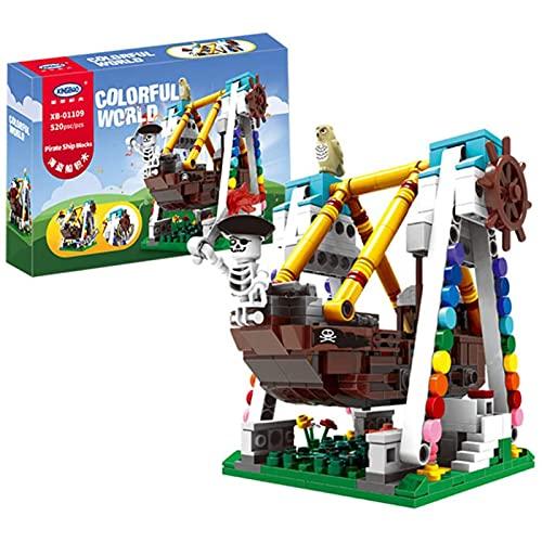 Mr.LQ Children's Building Bricks Set, Creative Amusement Park Series, Educational Assembly Blocks Toys For Children From 6.7.8 Years