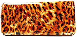 Damen Portemonnaie Tiger Look Geldbörse Geldbeutel braun 20cm