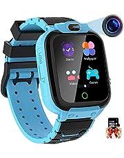 Vannico Smartwatch voor kinderen, 1,44 inch HD touch-kleurendisplay met muziek, video-opname, games, camera, stopwatch, wekker, rekenmachine, smartwatch voor kinderen, kinderhorloge, cadeau voor jongens en meisjes