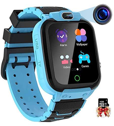 Vannico Smartwatch Kinder 1.44 Zoll HD Touch-Farbdisplay mit Musik Videoaufnahme Spiele Kamera Stoppuhr Wecker Rechner Smartwatch für Kinder Smartwatch Kinderuhr Geschenke Jungen Mädchen