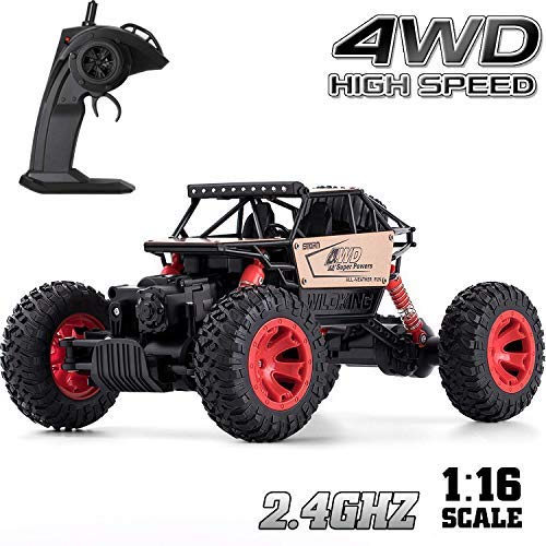 Remote Control Car for Boys, RC Cars for Gift Car Remote Control Road Vehicle Toys for Boy/Girls 4 WD 1:16 Scale Rock Crawlers