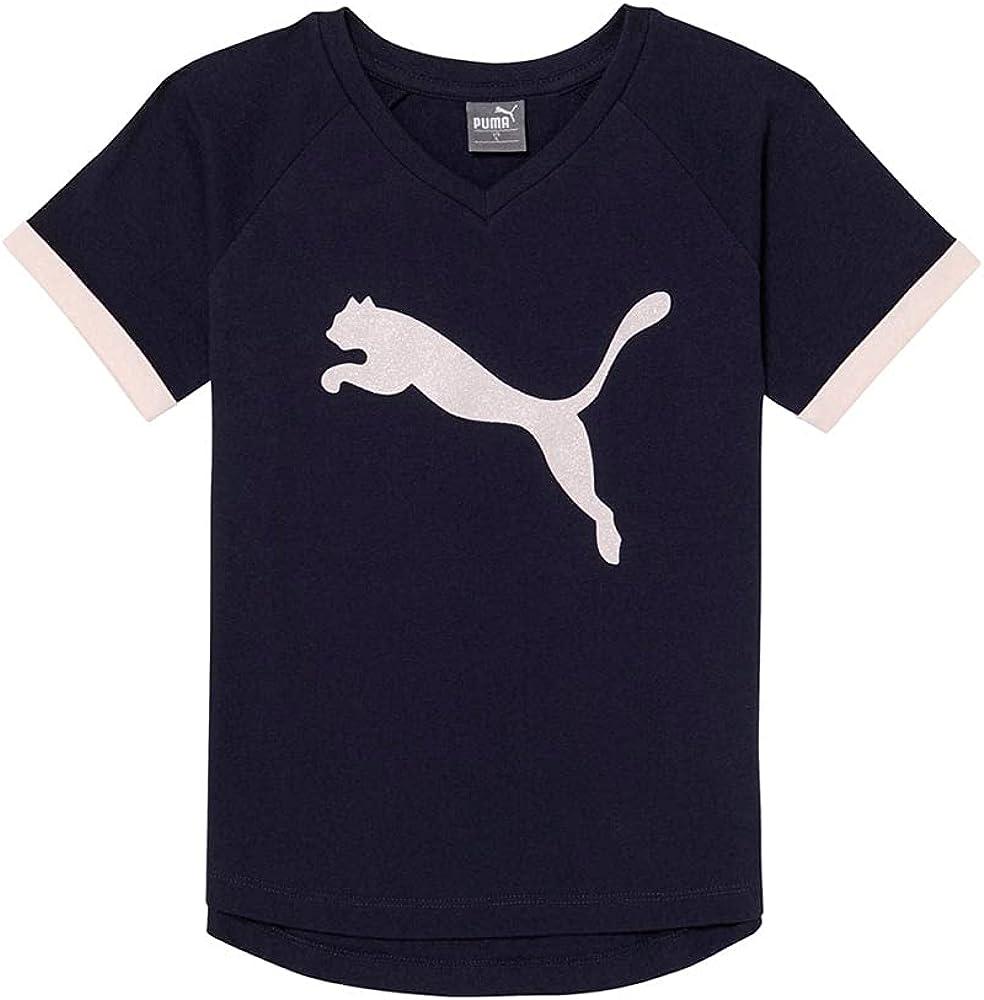 PUMA Kids Boys Cotton Jersey Raglan Fashion - Top - Blue