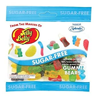 Jelly Belly Sugar Free Gummi Bears 3.0 Ounce Bags  Pack of 12