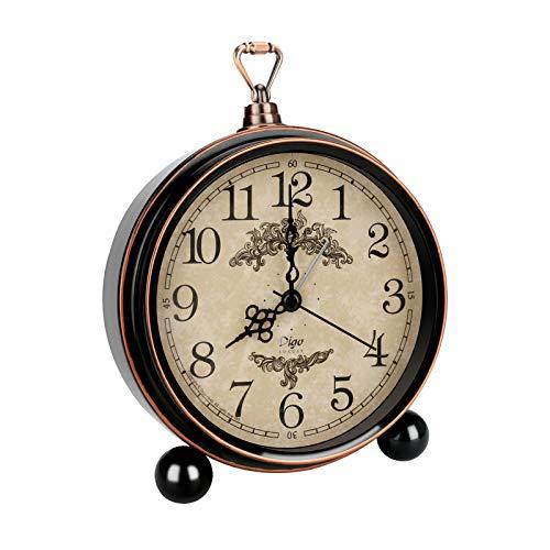 Ertisa Despertador Retro, 5.3'' Despertador clásico Junto a la Cama Despertador de Doble Campana de Cuarzo Despertador Ruidoso Vintage Nocturna de Dormitorio