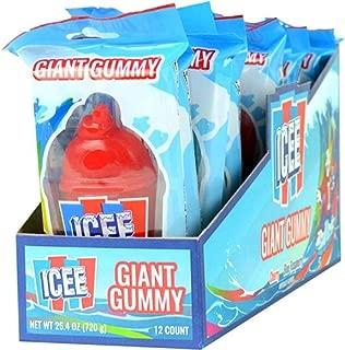 Koko's Icee Giant 2.1 oz. Gummy Candy, 12 Count Display Box
